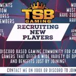 TSB is Recruiting - wanna have fun?