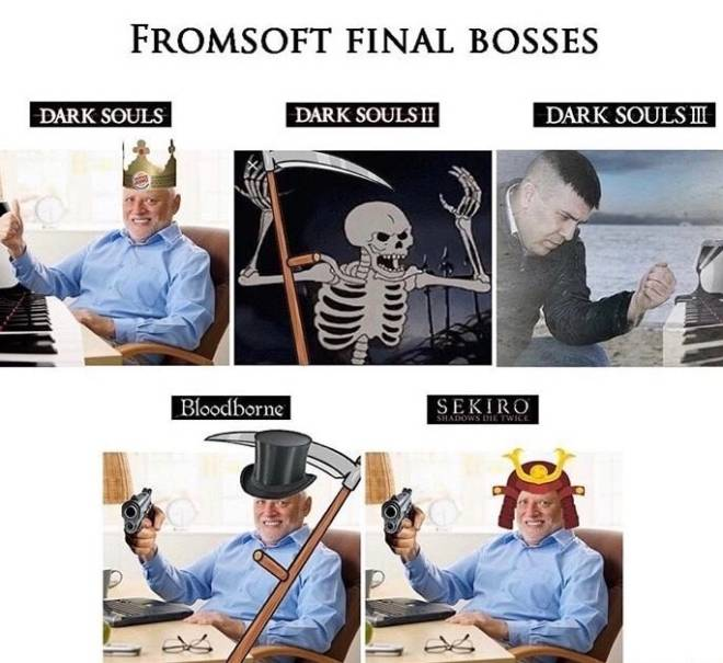 Dark Souls: Memes - This has to be the most accurate fromsoftwhere  game boss meme 😂 image 1