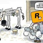 Poor cow 🐮 get it together rockstar. Damm give us the new the shit already