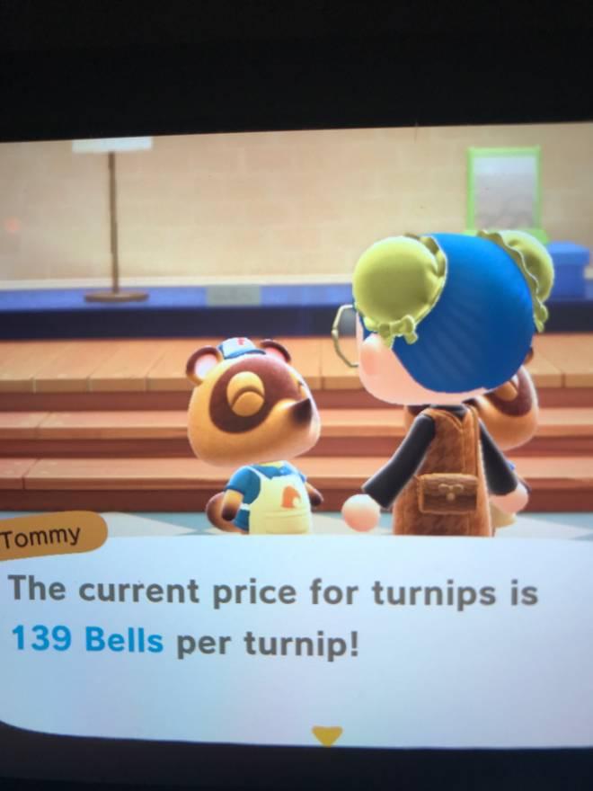 Animal Crossing: Turnips! - turnip price 139 image 1