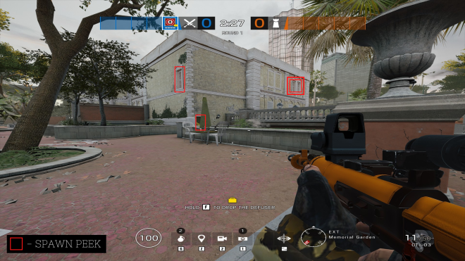 Rainbow Six: Guides - Guide for playing 'Glaz' on 'Consulate'. image 10