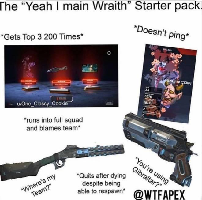 Apex Legends: Memes - I can confirm as a wraith main image 1