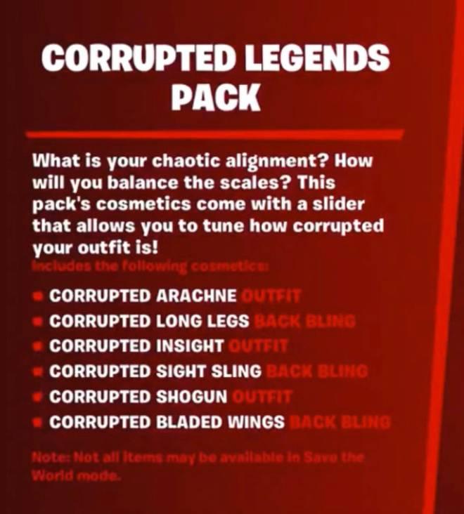 Fortnite: General - Leaked Corrupted Legends Pack image 1