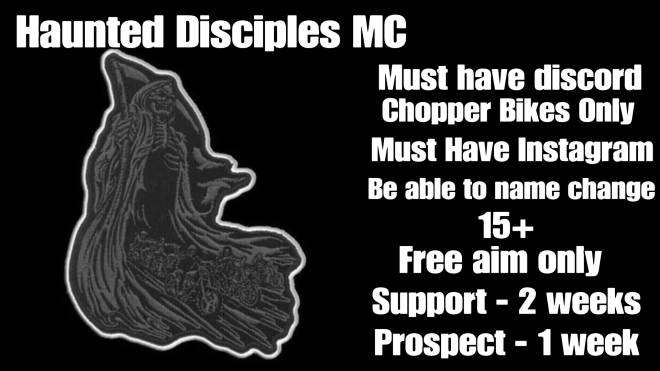 GTA: Promotions - Haunted Disciples MC Are Recruiting HMU ON IG @HDMC_Piero image 1