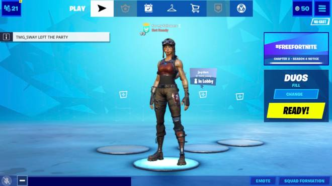Fortnite: General - my locker on my phone but actually play on PC so image 1