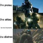 But most of all, she distraccc