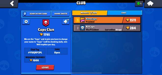 Brawl Stars: General - Join Caps Clan (200 Trophies 🏆 Req) image 2
