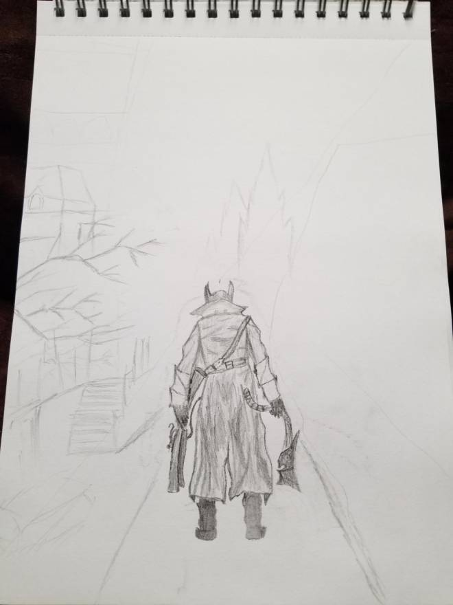 Off Topic: General - Bloodborne drawing! Prt1 image 2