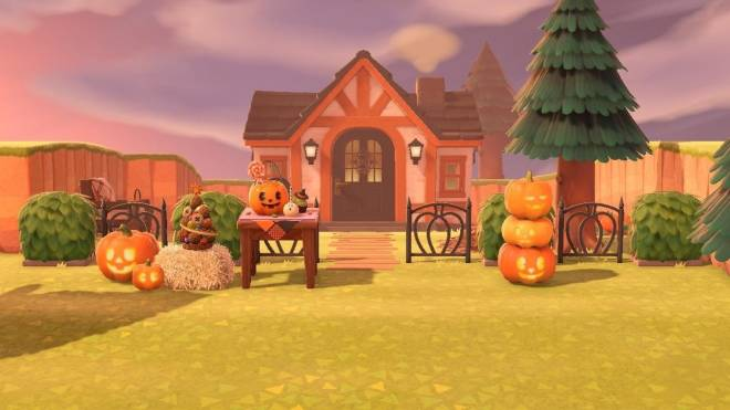 Animal Crossing: Posts - My house with Halloween decorations 🎃 image 2