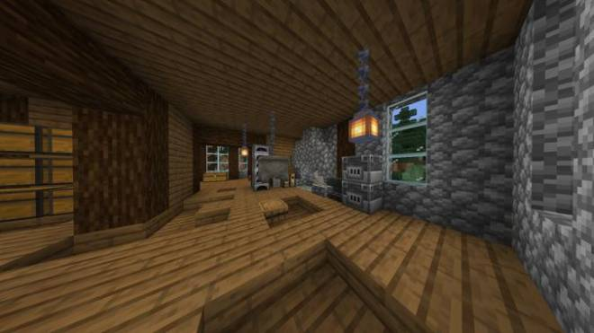 Minecraft: Memes - This is my house's first floor interior in the co-op world image 1