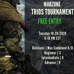 Free Warzone Trios Tournament