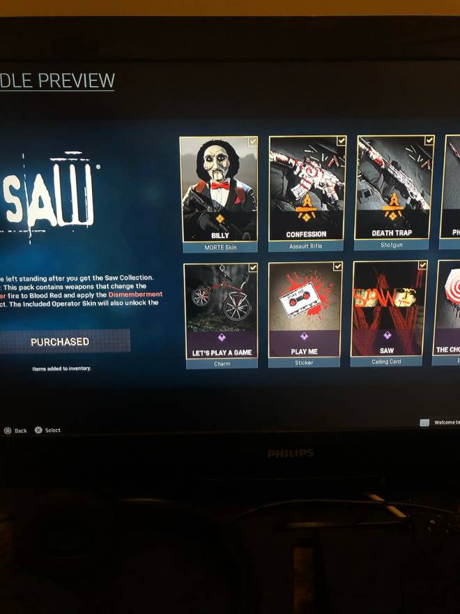 Call of Duty: General - Bought Saw 2,400 cp  image 1