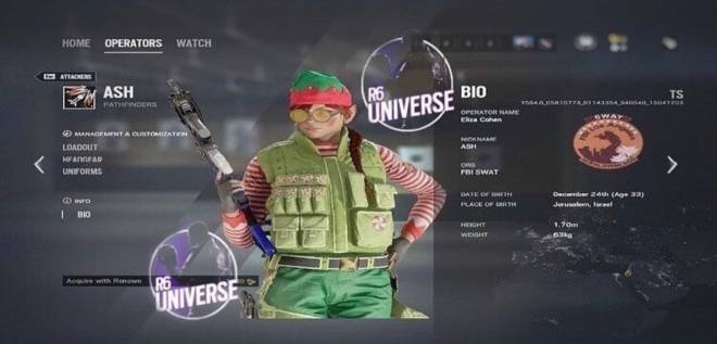 Rainbow Six: General - Leak Christmas Ash Skin! 🎄 image 1