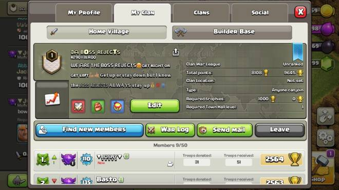 Clash of Clans: General - NEED 1 MORE PLAYER FOR A CLAN WAR.    #29QY8LRQQ image 1