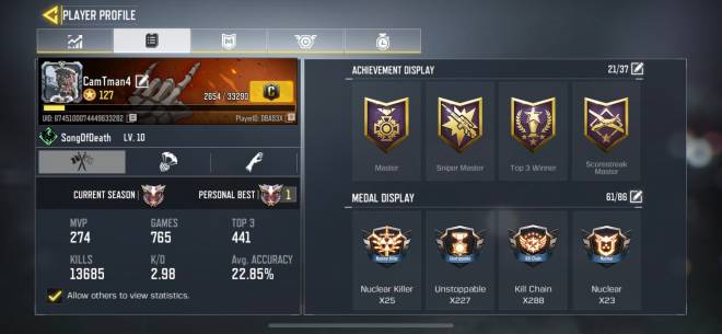 Call of Duty: General - CODM stats plz like and comment  image 1