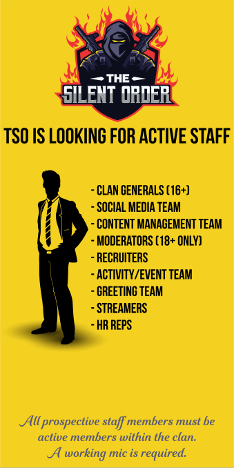 Rainbow Six: General - The Silent Order is now reopen and looking for staff!  image 1