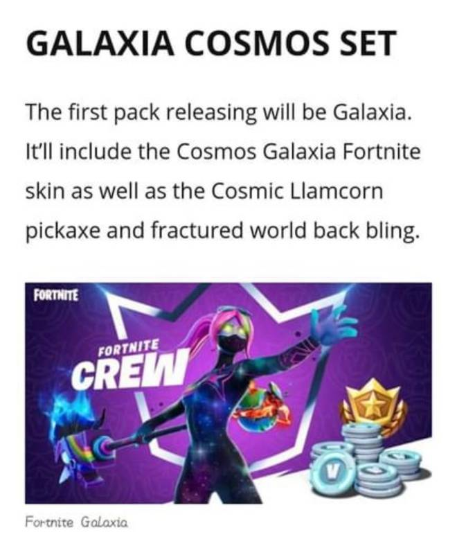 Fortnite: General - Galaxia Cosmos Set 👀💜 image 2