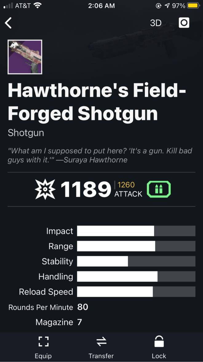 Destiny: General - What's the best Kinetic weapon for Crucible ? image 5