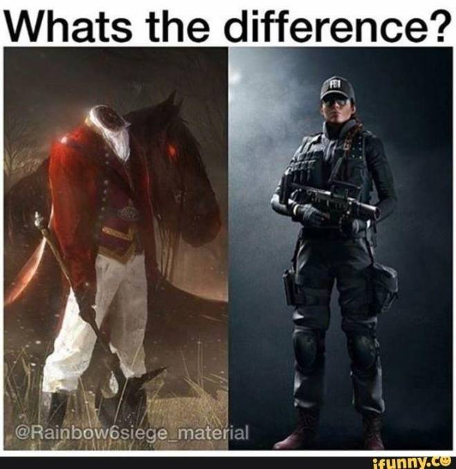 Rainbow Six: Memes - What's the difference  image 1