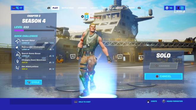 Fortnite: Battle Royale - I'm in the game  apparently it's a glitch lol now we wait for downtime image 1