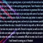 Hey! Have you been wanting to join a gaming team, or just recently left one and are looking for a n