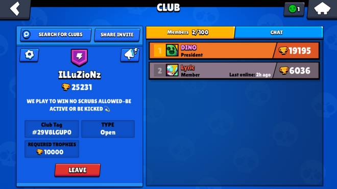 Brawl Stars: General -  Looking for people to join my club be good and be active 10k trophies minimum 💫 image 1