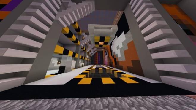 Minecraft: Memes - Futuristic Garage Building + Mural of cute fox girl chewing gum image 1