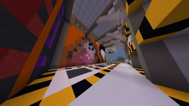 Minecraft: Memes - Futuristic Garage Building + Mural of cute fox girl chewing gum image 3