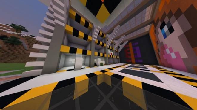 Minecraft: Memes - Futuristic Garage Building + Mural of cute fox girl chewing gum image 2