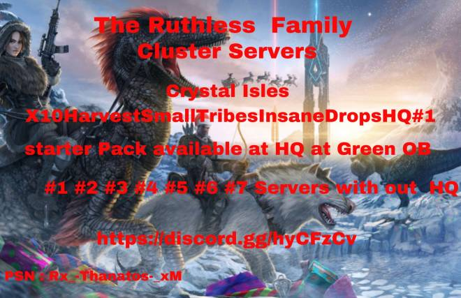 ARK: Survival Evolved: General - PS4 X10 Cluster Servers X3 Stats. Easy taming, Easy Breading, Mutations ! Modded Drops and More  image 2