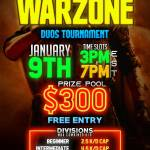 Free Entry $300 Warzone Duos Tournament