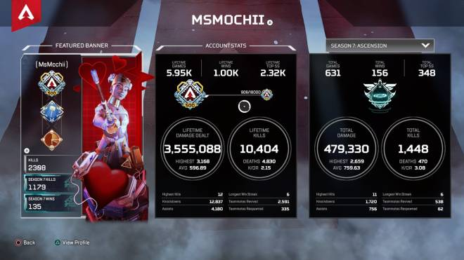 Apex Legends: General - Finally reached 1k wins☺️ image 1