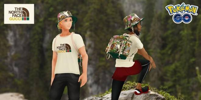 Pokemon: General - Pokémon GO Freebies: The North Face x Gucci Collection image 1