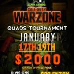 $2000 Warzone Quads Tournament