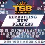 TSB Gaming is recruiting!