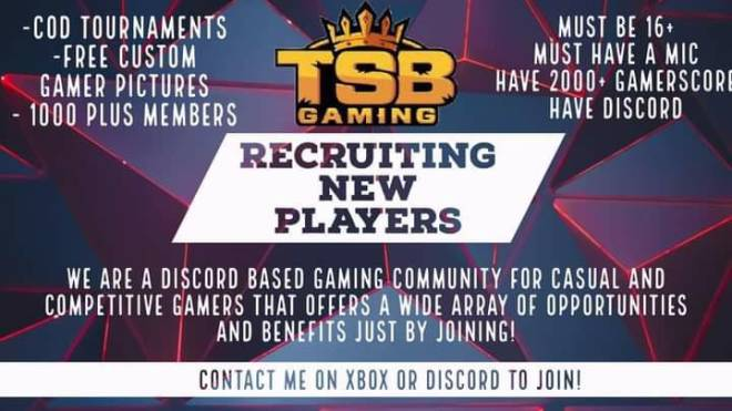 Call of Duty: Looking for Group - TSB gaming is recruiting new members. We are a 900+ community. We play all games and have a non toxi image 3