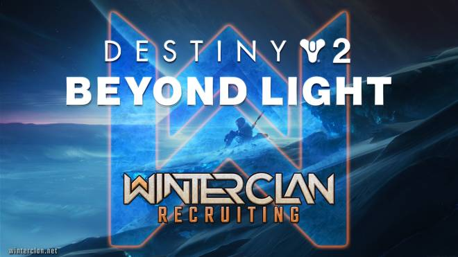 Destiny: General - Need an active PS4/PS5 clan? Join 2,000 other Guardians in in WINTER CLAN! [NA][EU][PvE][PvP] image 1
