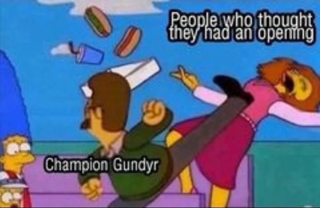 Dark Souls: Memes - Champion gundyr reflexes are unpredictable sometimes if not careful 😂 image 1
