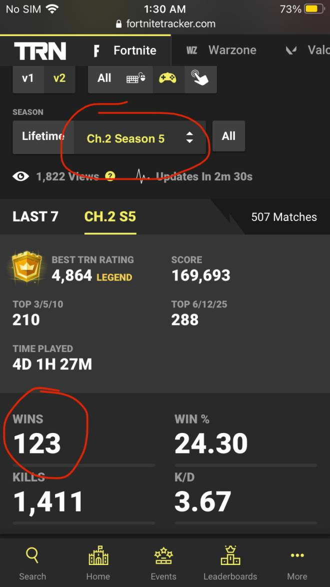 Fortnite: Battle Royale - How many wins do you have this season? image 1