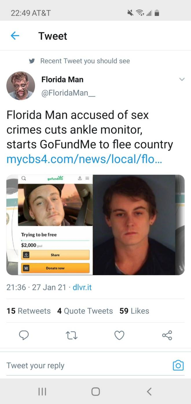 Off Topic: Welcome - Florida man is a different breed image 1