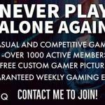 Interested in joining a gaming community? TSB has about 170+ PC members, but with Playstation and Xb