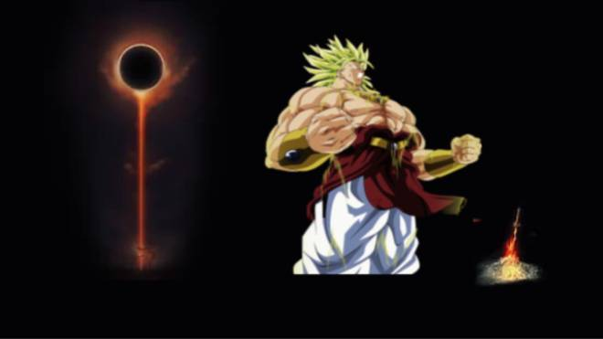 Dark Souls: General - Broly takes a rest at the bonfire meanwhile in dark souls lounge  image 2