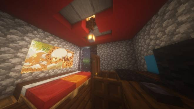 Minecraft: Memes -  A look inside my starter base's bedroom image 1