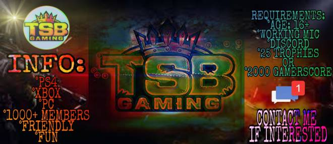 Destiny: General - TSB GAMING IS RECRUITING!!  16+ image 2