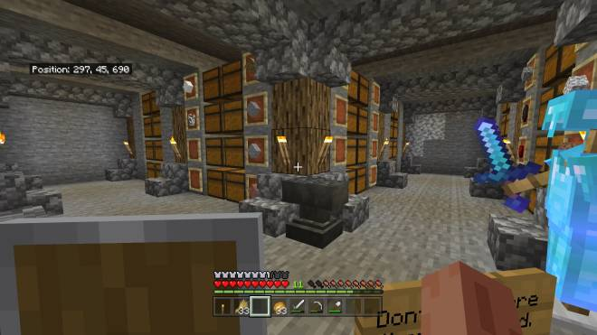 Minecraft: General - Any ideas for decorating the storage room? (its not finished yet) image 1