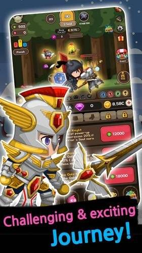 Cash Knight - Finding my manager ( Idle RPG ): event - God Blessing Knight - Cash Knight Gameplay Walkthrough image 3