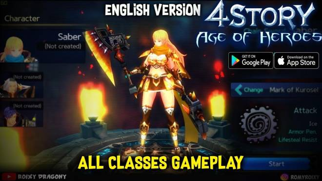 4Story - Age of Heroes: Guide - 4Story: Age of Heroes - MMORPG first Gameplay (Android/IOS) / RPG game Android / RPG English image 3