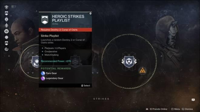 matchmaking heroic strike destiny