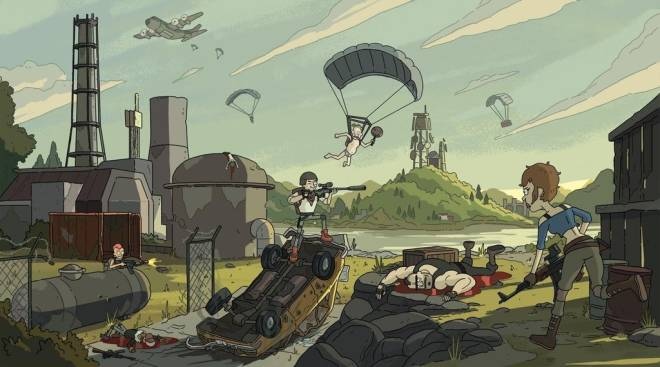 Pubg Wallpapers 67: PUBG Drawing In The Style Of Rick And Morty