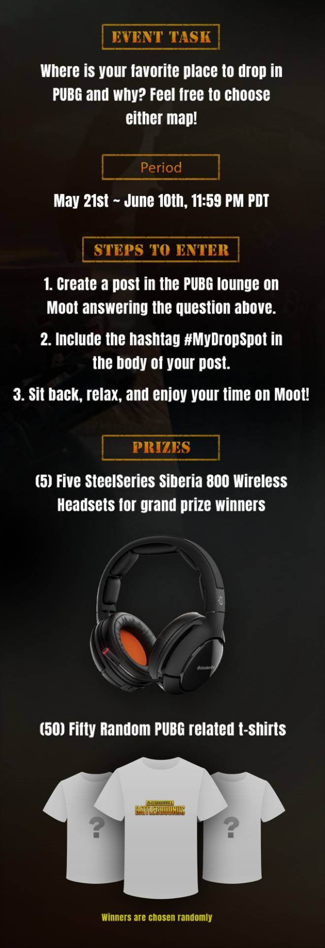 Moot: Notice - #MyDropSpot Giveaway Event! image 2